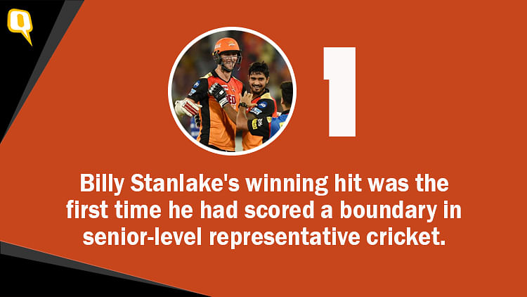 Stanlake's Last-Ball 4 Helps Sunrisers Defeat Mumbai in a Thriller