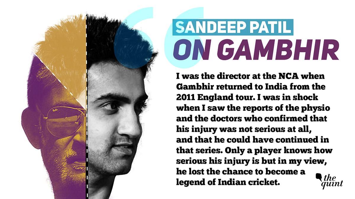 Sandeep Patil on Gambhir's Attitude Problem & 2011 England Tour