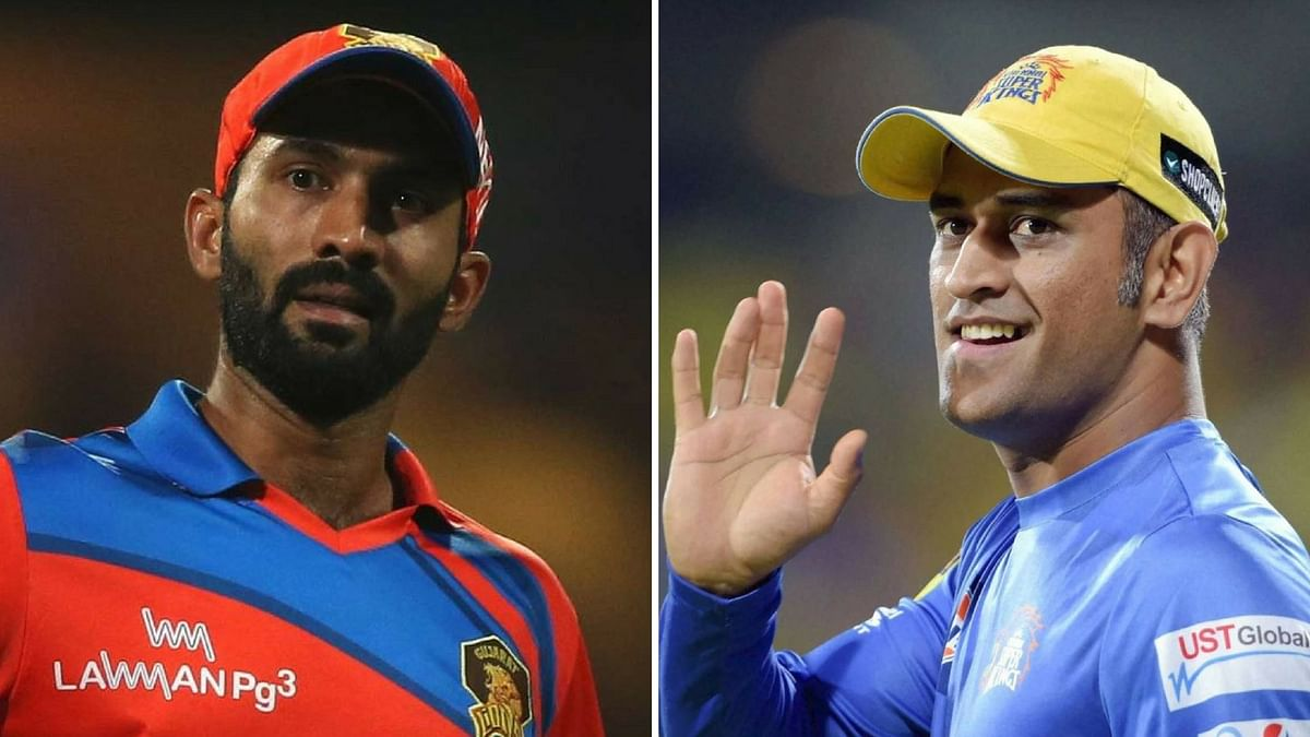 Dinesh Karthik (left) and MS Dhoni (right) will be seen captaining their teams KKR and CSK respectively in IPL 2018.