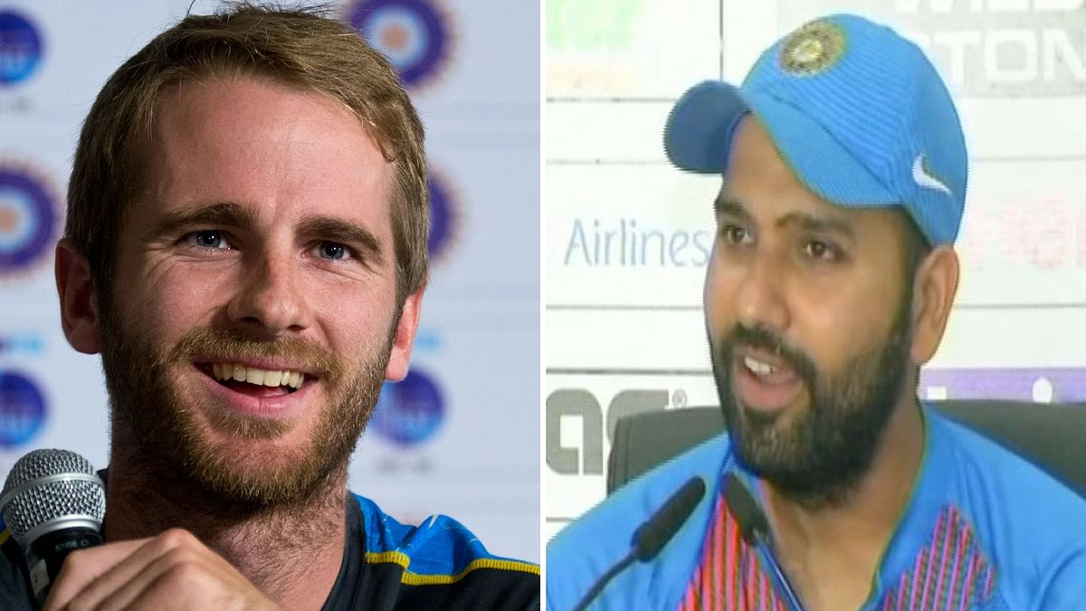Kane Williamson (left) and Rohit Sharma (right) will lead their sides in the match 7 of IPL 2018.