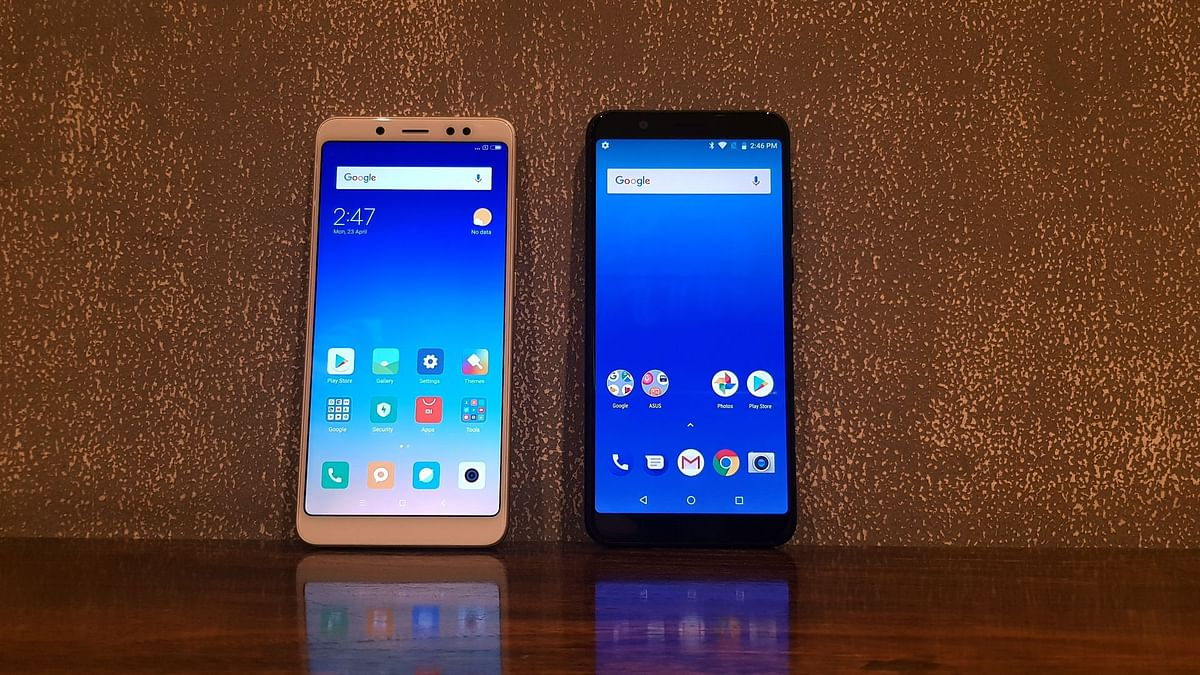 The Xiaomi Redmi Note 5 Pro( left ) comes with a 20-megapixel front camera