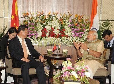 Prime Minister Narendra Modi and Chinese President Xi Jinping. (Photo: IANS/PIB)