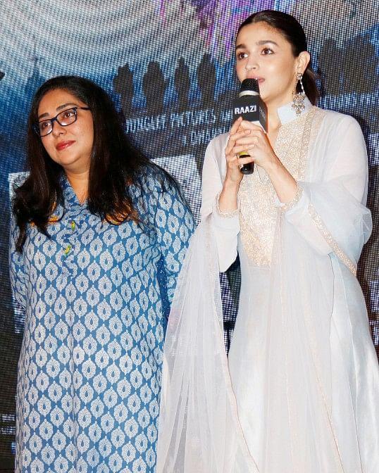 Meghna Gulzar with Alia Bhatt.