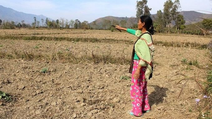 Hmouki, a farmer in Manipur, is worried about feeding her family during the dry season.