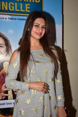 """Mumbai: Actress Divyanka Tripathi Dahiya at the special screening of film """"Qarib Qarib Singlle"""" in Mumbai on Nov 14, 2017. (Photo: IANS)"""