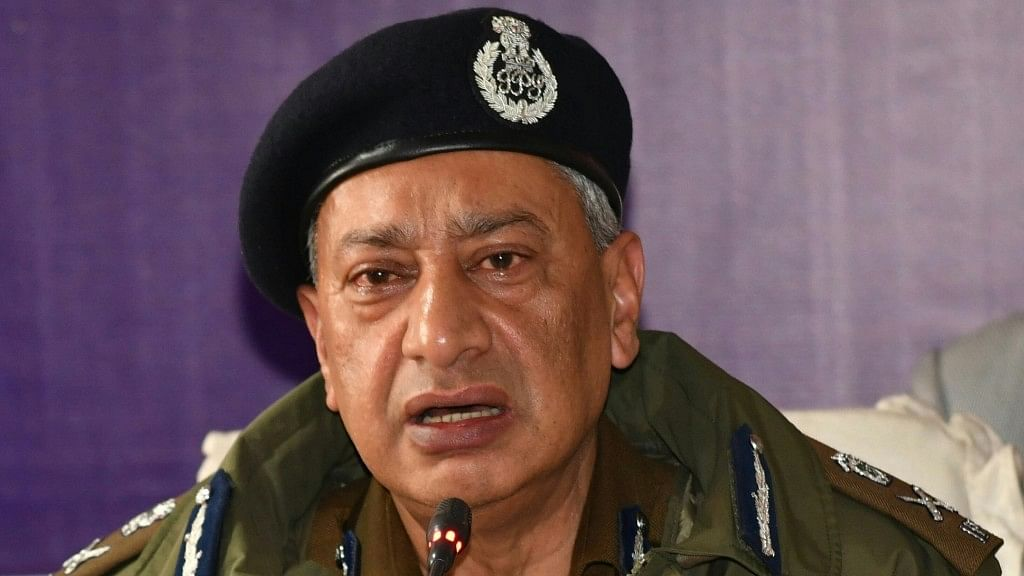 Jammu Kashmir Director General of Police (DGP) Shesh Paul Vaid.