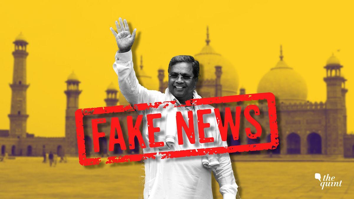 Karnataka CM Siddaramaiah's Pakistan Trip: Fake News Strikes Again