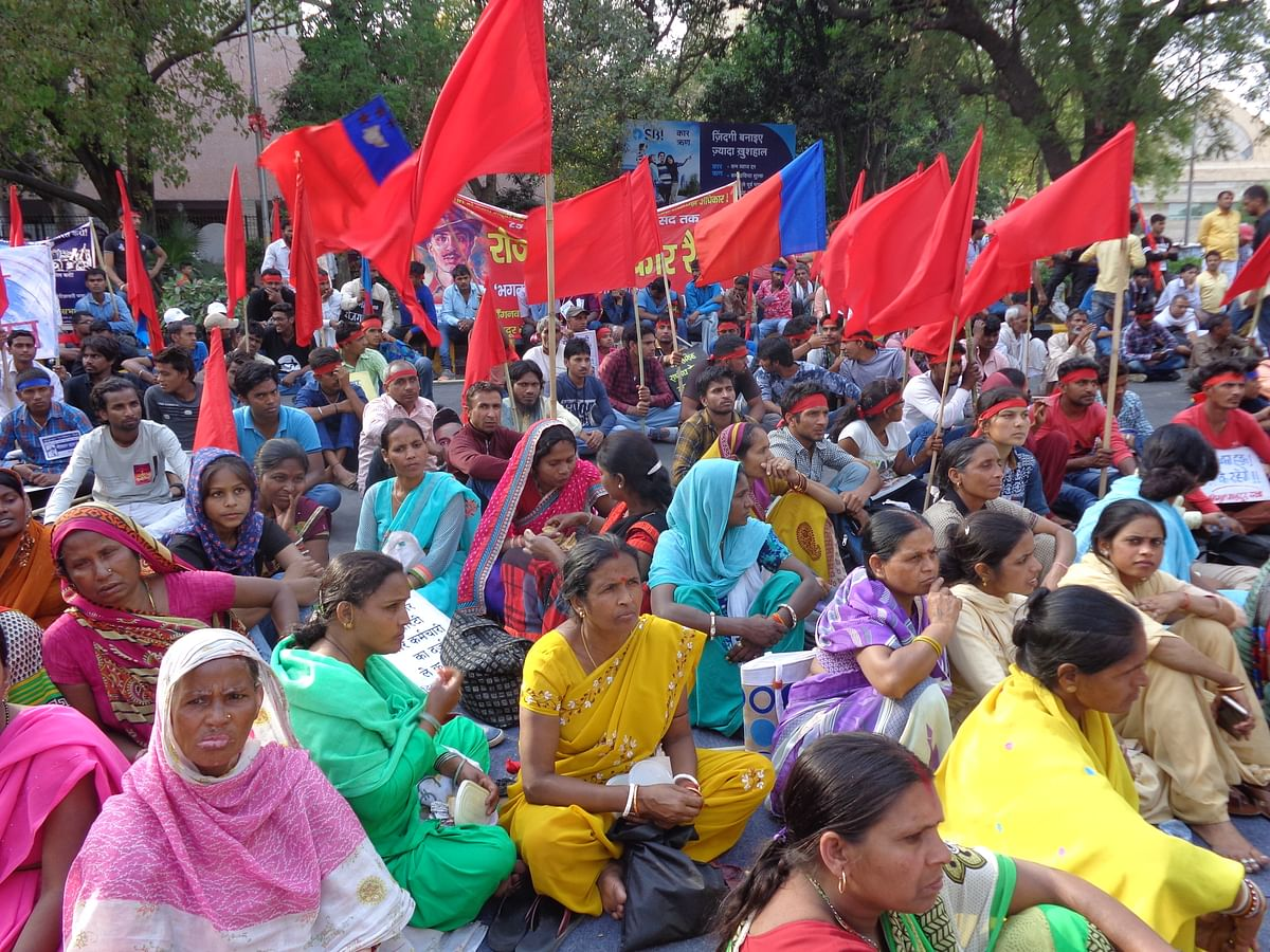 Around 4,000 workers from five states had gathered at Ramlila ground on 25 March asking for their Right to Employment.