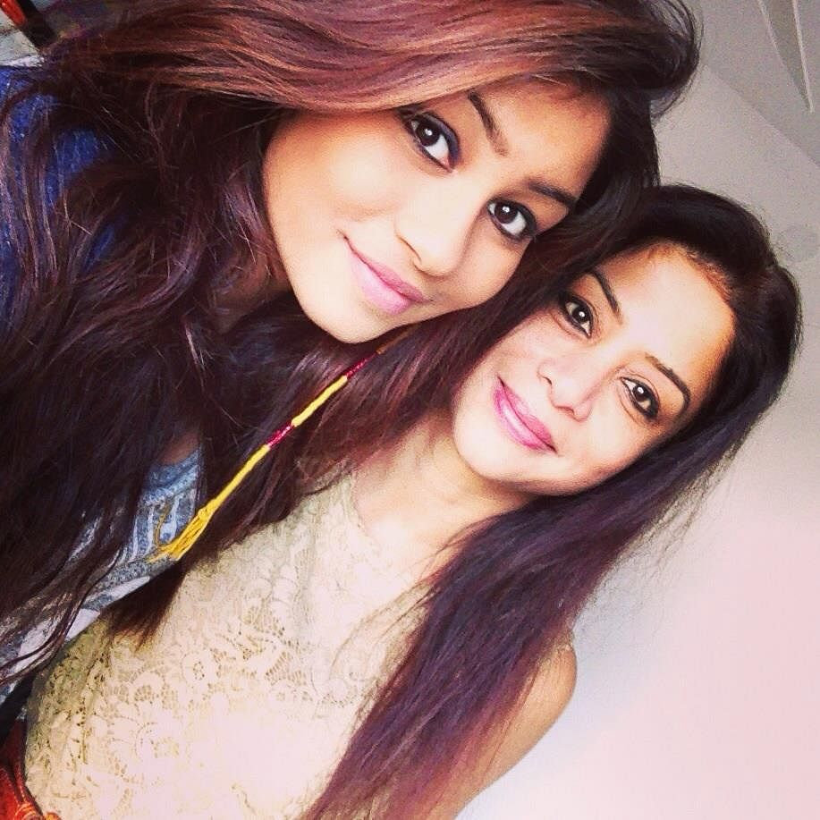 Indrani and her daughter, Vidhie.