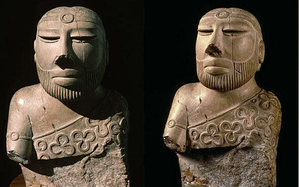 "The 'Priest King' of Mohenjo Daro, of the Indus Valley Civilisation. (Photo Courtesy: <a href=""https://www.harappa.com/blog/priest-king-diety-or-individual"">Harappa.com</a>)"