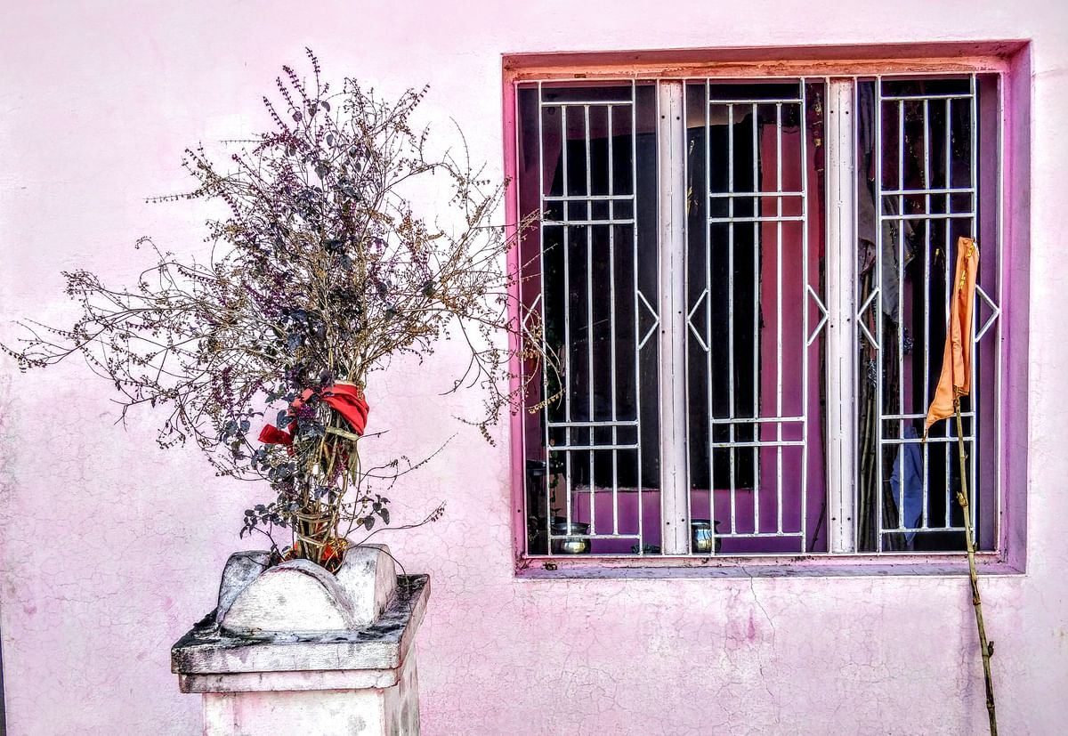 One of the three windows of the Devasthan, where the 8-year Kathua rape victim was confined for six days.
