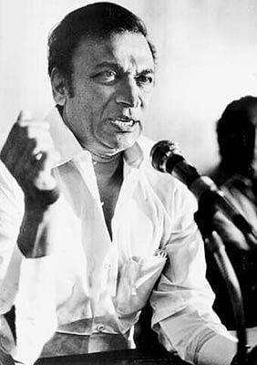 File photo of Rajkumar addressing a meeting.