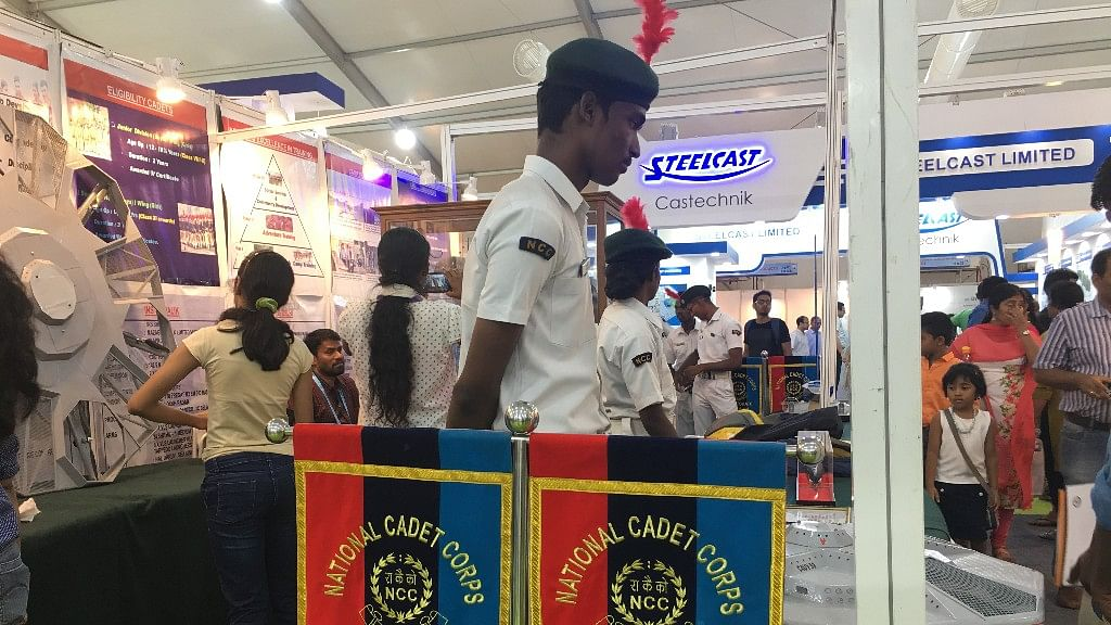 The NCC cadet who was instructed by a father to stop explaining submarines to kids and step away from the models so that they can take a photo.