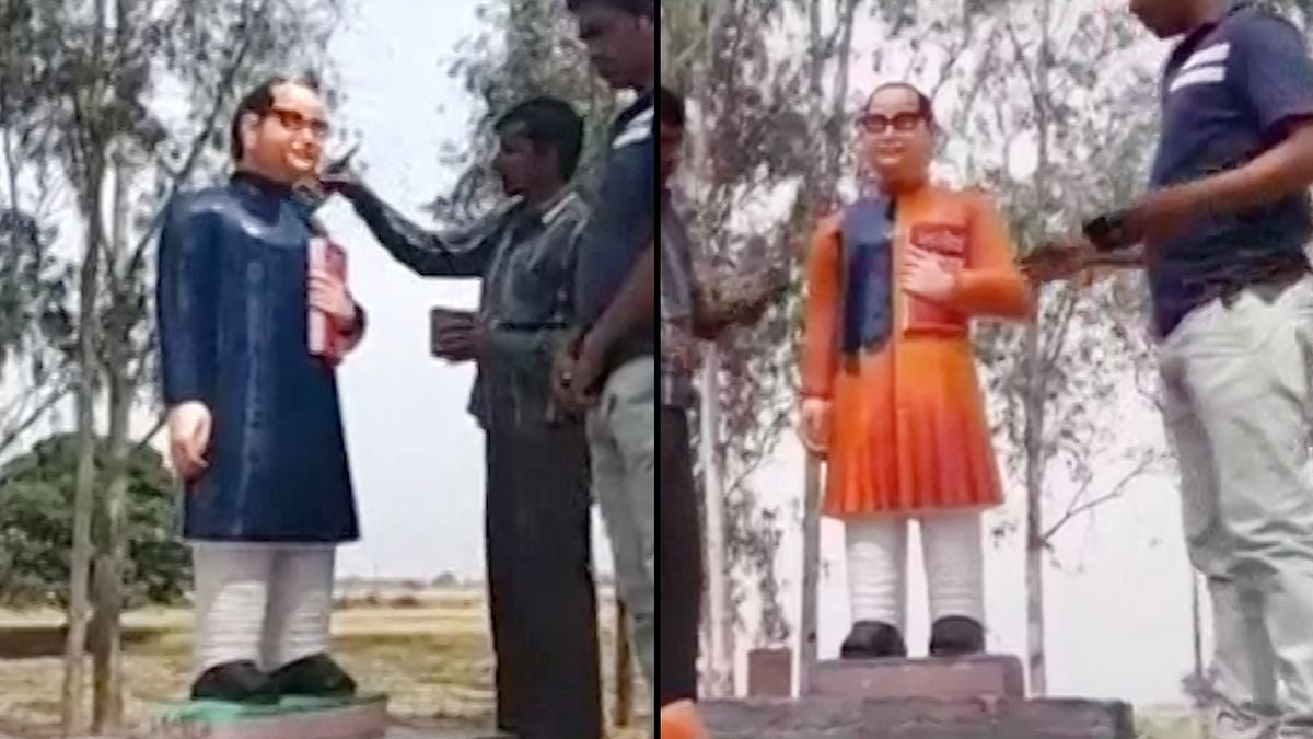 From Saffron to Blue: The Changing Colours of Ambedkar's Statue