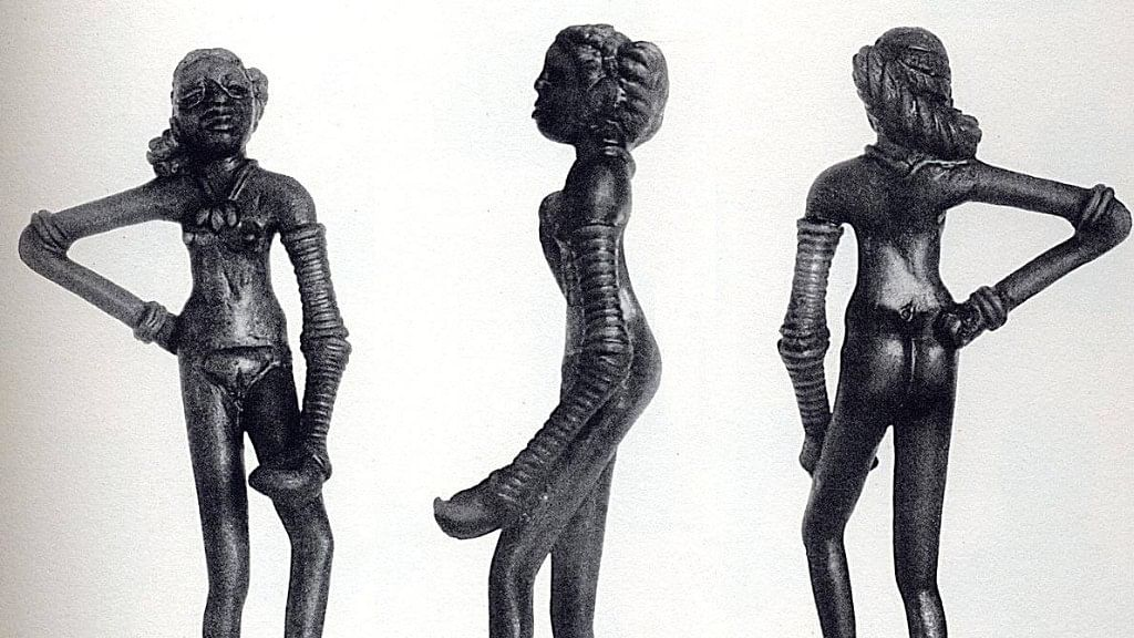 "'Dancing Girl' figurine from Harappa, part of the Indus Valley Civilisation. (Photo Courtesy: <a href=""https://www.harappa.com/blog/dancing-girl-figurine"">Harappa.com</a>)"