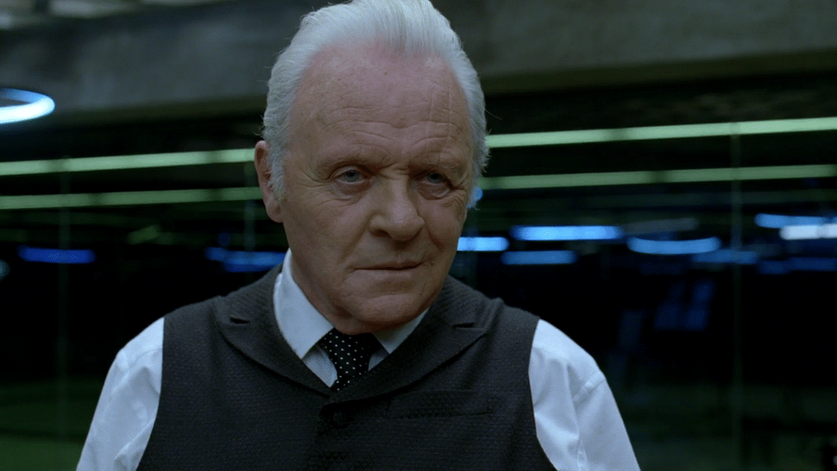 Anthony Hopkins in a still from <i>Westworld. </i>