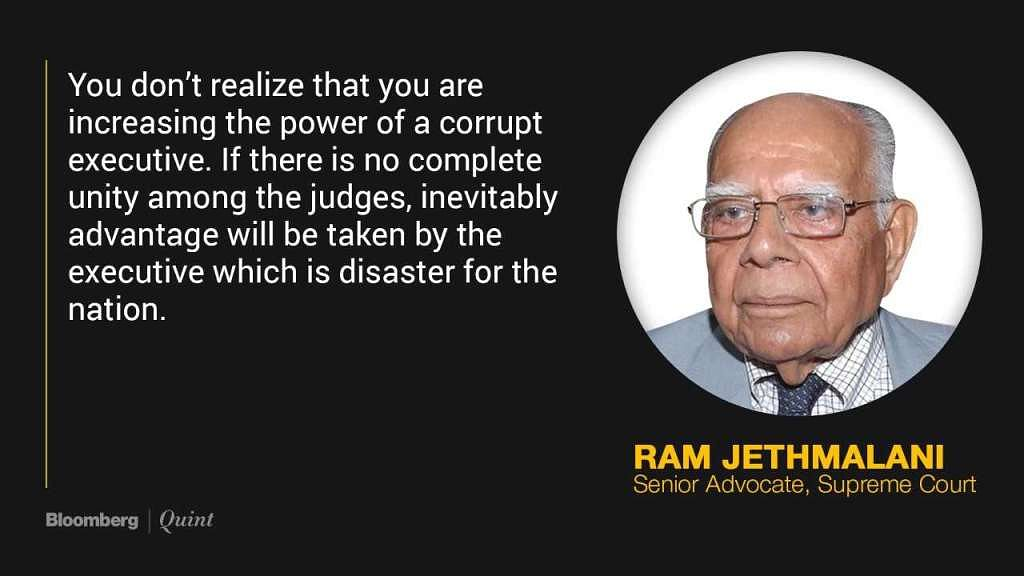 Judges' Spat Gives Executive the Advantage, Says Ram Jethmalani