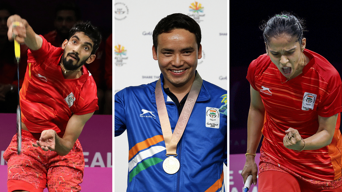 Saina Nehwal, Kidambi Srikanth and Jitu Rai are in action on Wednesday in Gold Coast.