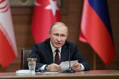 Russian President Vladimir Putin. (Xinhua/Mustafa Kaya/IANS)