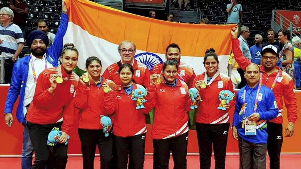 Indian Women's table tennis team won their first-ever Commonwealth Games gold at the 2018 event in Gold Coast.