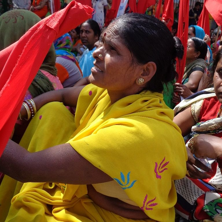 Workers who participated in the protests on 25 March in Delhi are demanding that a new law should be passed that can ensure jobs for all.