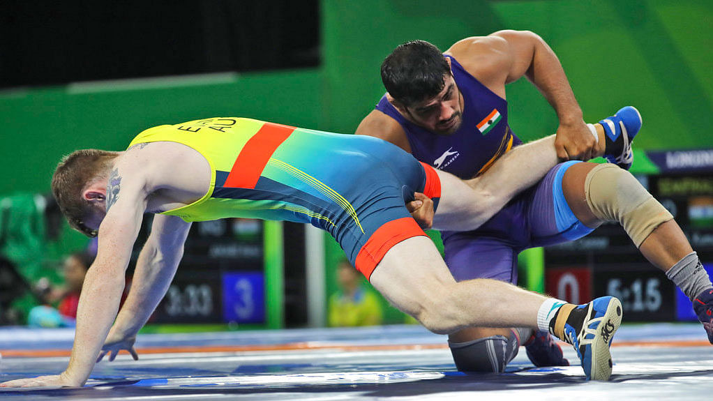 Sushil Kumar in action.