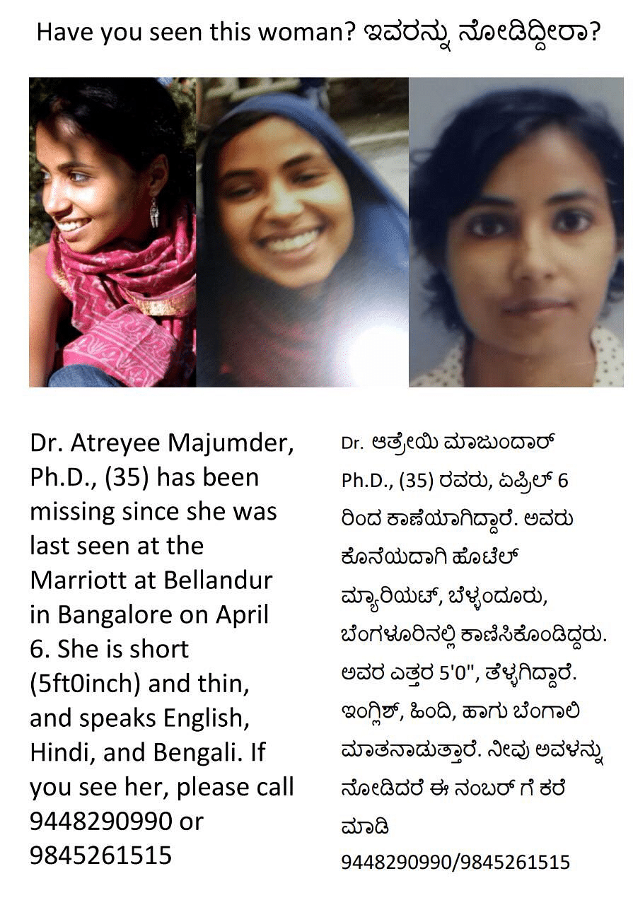 Missing Anthropologist Atreyee Majumdar Found in Bengaluru Hotel