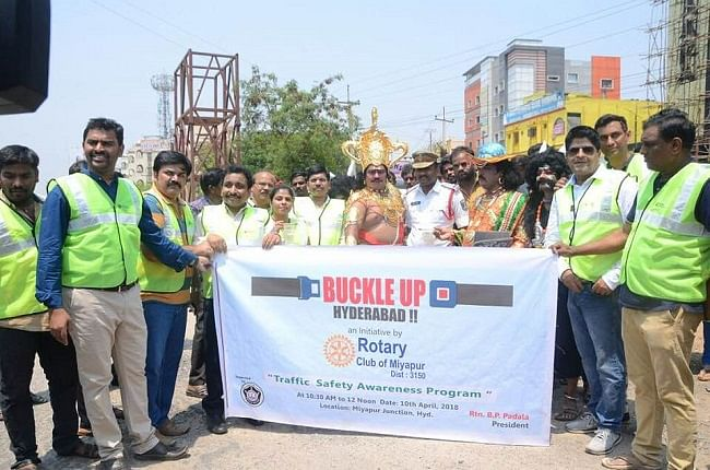 The campaign was in association with Hyderabad police.