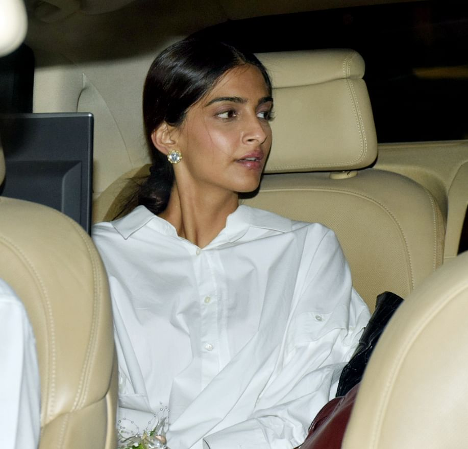 Sonam Kapoor arrives for the party.