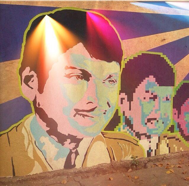 Graffiti of Kannada Superstar Dr Rajkumar in Bengaluru.