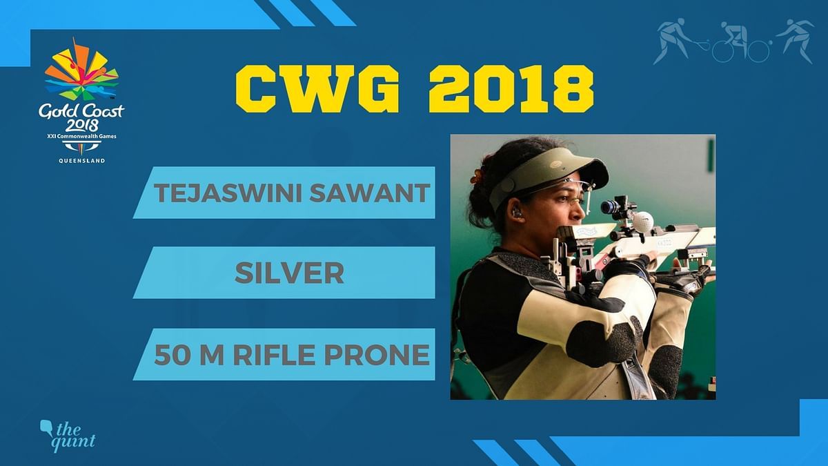 CWG 2018: Shooter Sawant Takes Silver Medal in 50 m Rifle Prone