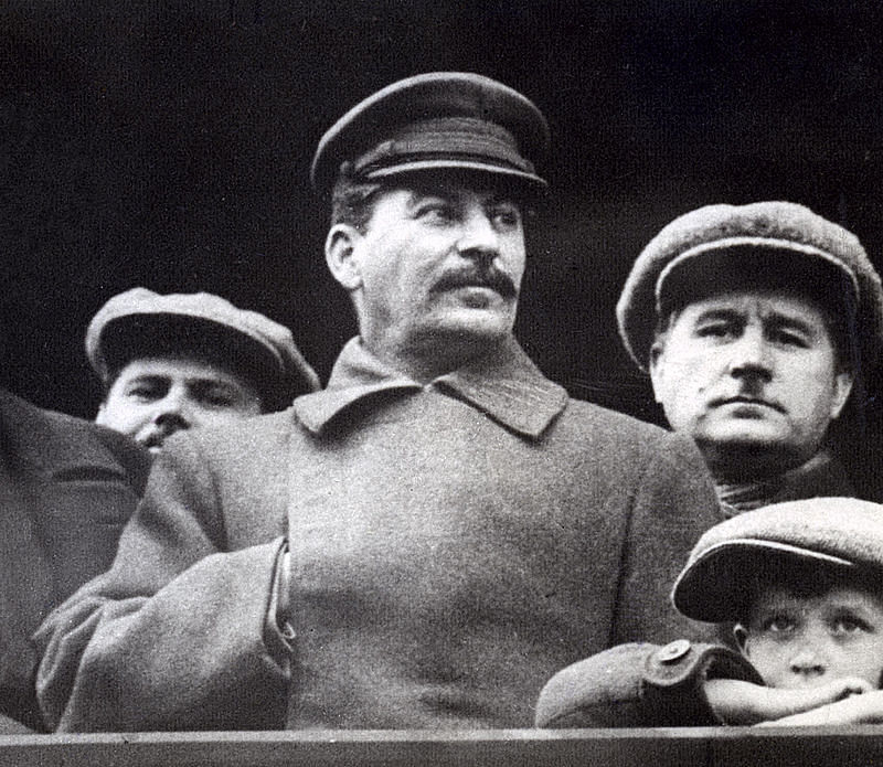 Josef Stalin (centre), leader of the Soviet Union during the Great Purge.