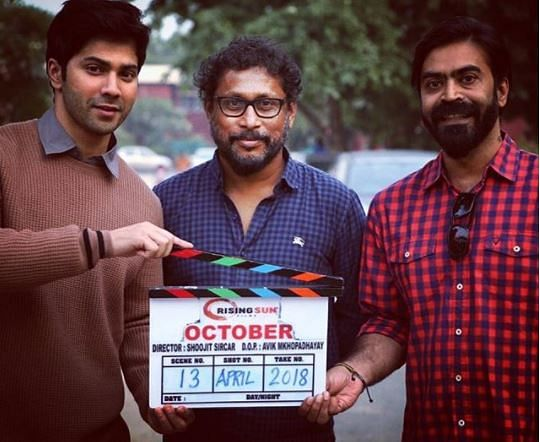 Varun with his director Shoojit Sircar and producer Ronnie Lahiri.