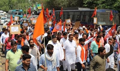 Protest march in Gurugram over FIR for stopping 'namaz'