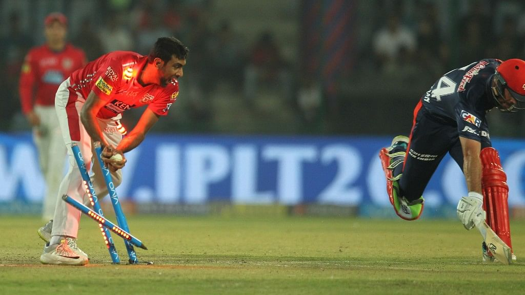 Kings XI Punjab skipper R Ashwin dismissing Delhi Daredevils'Daniel Christian