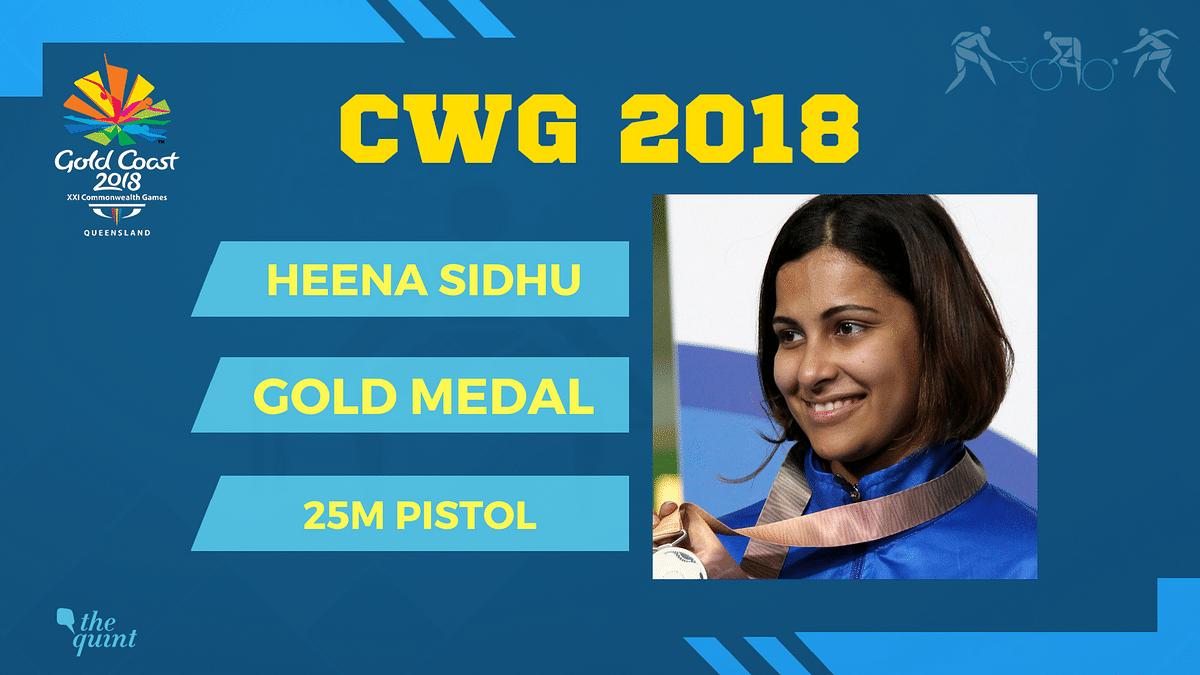 CWG 2018: Heena Sidhu Breaks CWG Record, Bags Gold in 25m Pistol