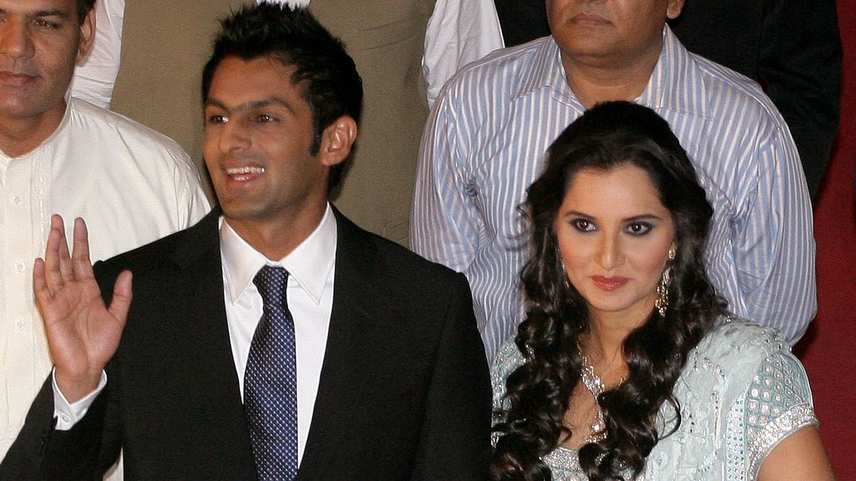 Shoaib Malik and Sania Mirza.