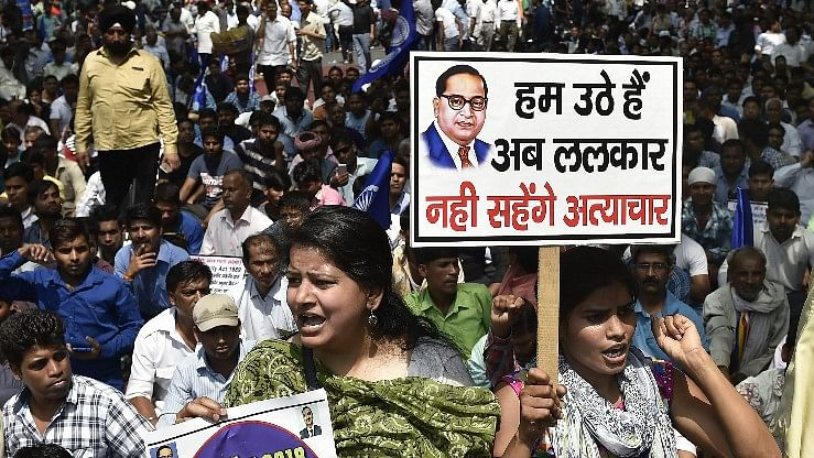 Image of a Dalit protest used for representational purposes.