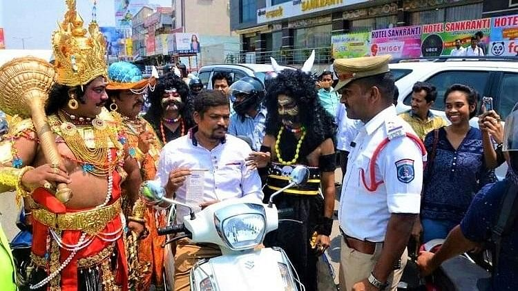 The awareness campaign titled 'Buckle up Hyderabad' was organised by the Rotary Club of Miyapur, in coordination with the city's Traffic Police.