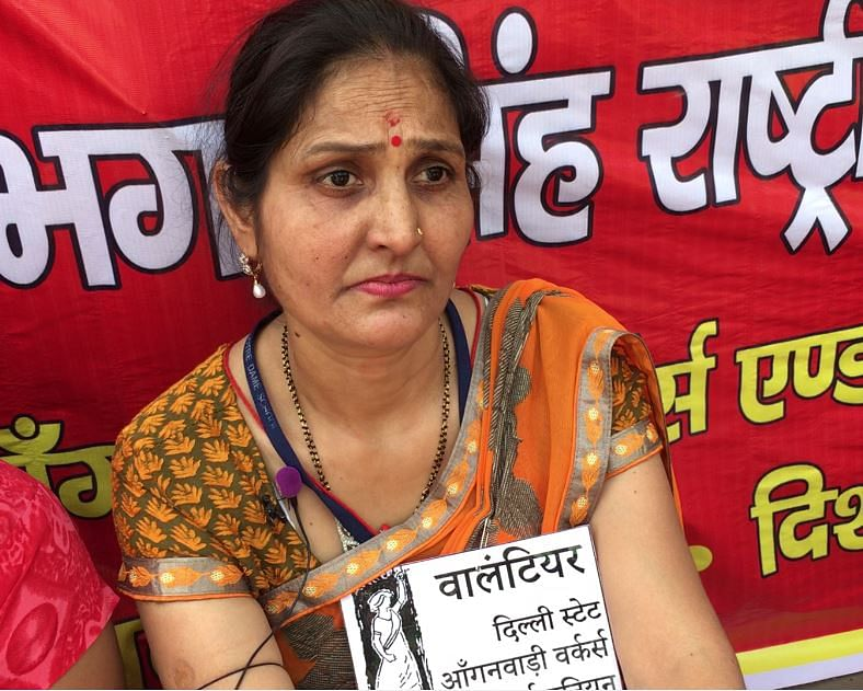 Monica Sharma, an anganwadi worker in Badarpur, claims there is a delay of at least three to four months in payment of their salaries.