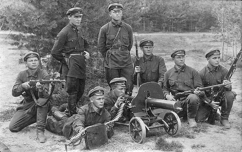 Red army soldiers in the early 1930s.