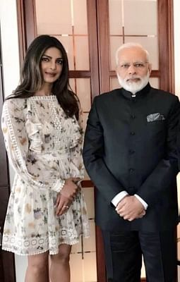Actress Priyanka Chopra and Prime Minister Narendra Modi (File Photo)