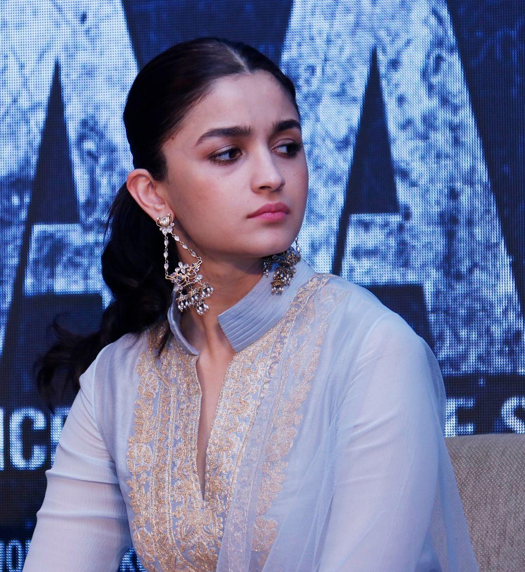 Alia Bhatt at the song launch.