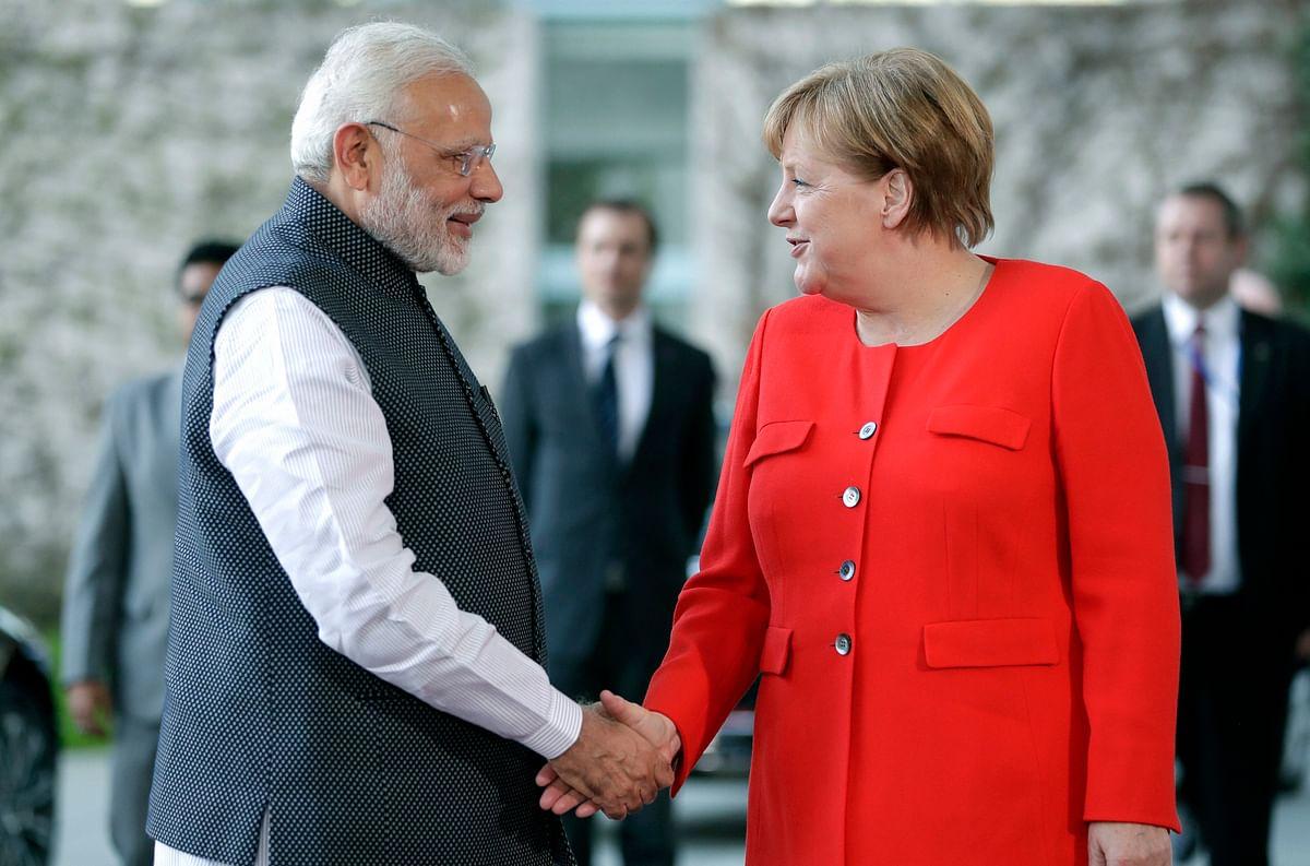 PM Narendra Modi with German Chancellor Angela Merkel in Berlin.