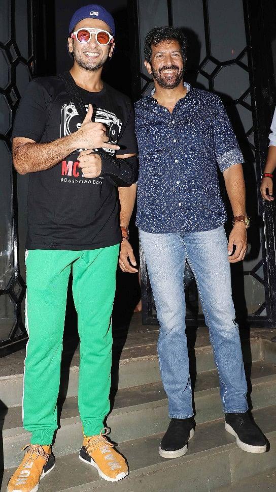 Ranveer Singh poses with director Kabir Khan.