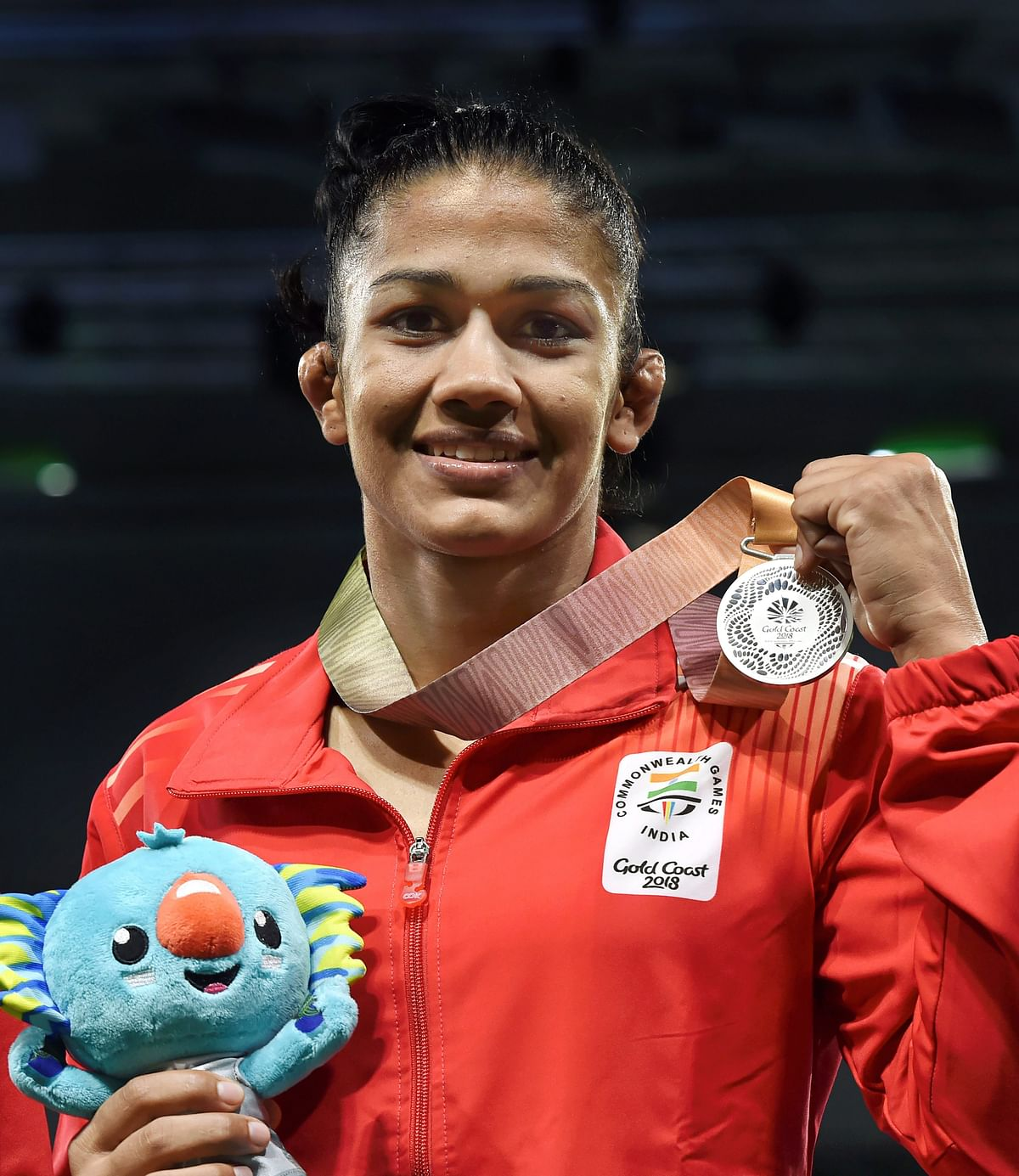 India's Babita Kumari wins silver medal in the Women's Freestyle 53 kg Nordic final match played against Canada's Diana Weicker at the Commonwealth Games 2018 in Gold Coast, on Thursday.