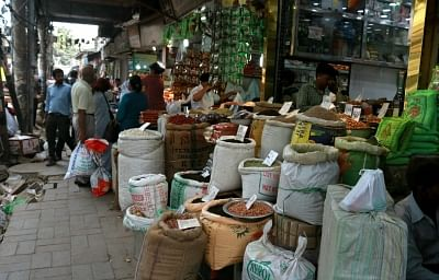 New Delhi: Spices on sale at a shop in Khari Baoli whole sale market near Chandni Chowk, in New Delhi. (File Photo: IANS)