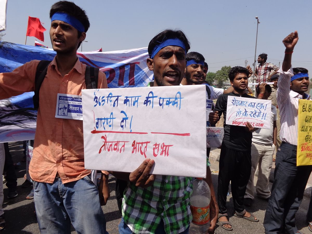 Monthly unemployment allowance and increasing the scope of MGNREGA from 100 to 365 days is among the demands being made by the protesters.