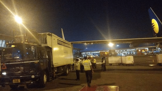 Jet Airways Plane's Wing Hits  Truck at IGI Airport, No Fatalities