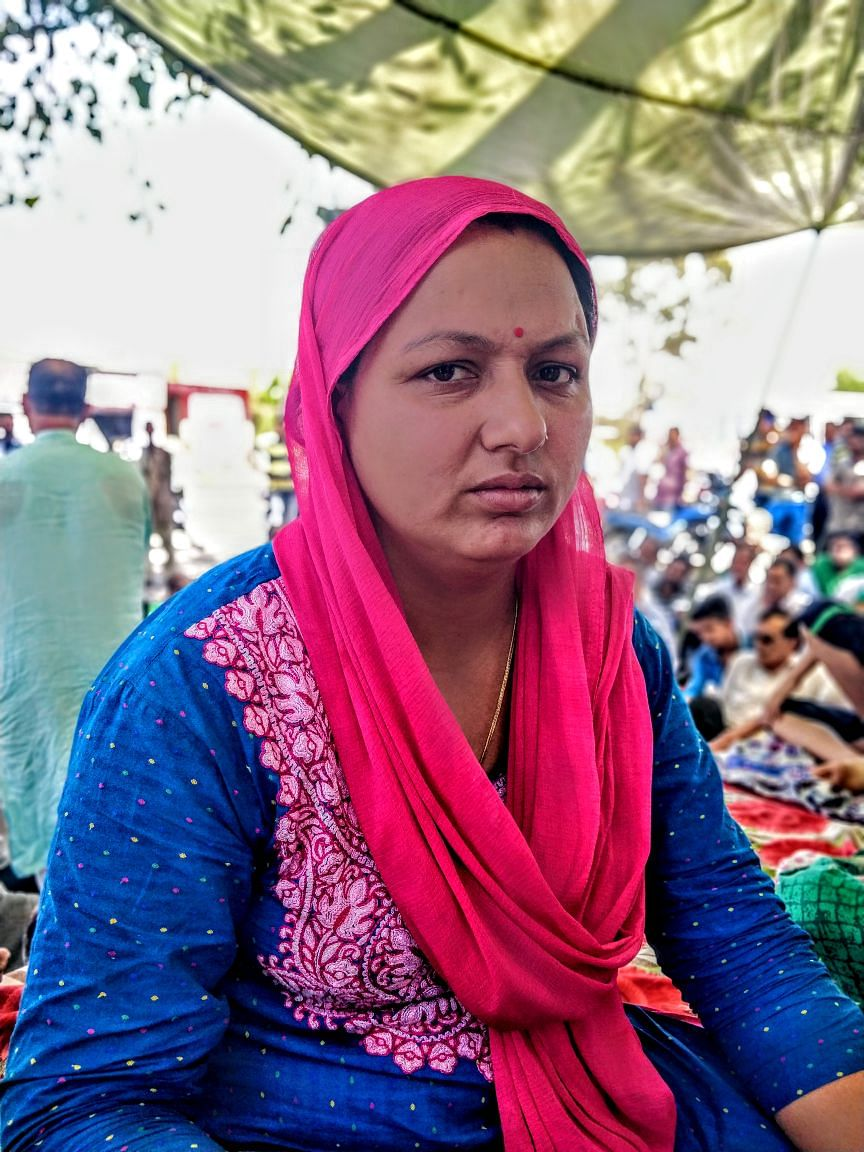 Only women are fasting at the Hindu Ekta Manch protest, and they're being led by the prime accused, Sanji Ram's, daughter.